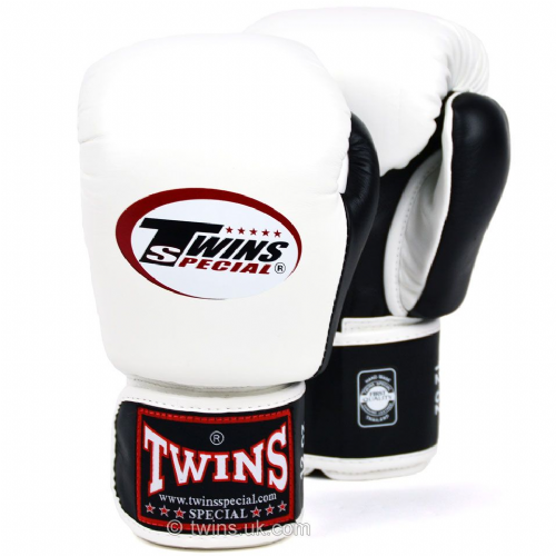 Twins 2-tone Boxing Gloves - White/Black